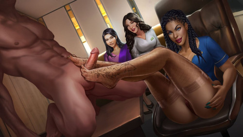 Nutaku - Sexy Airlines [tatoo,group,Porn Comic]