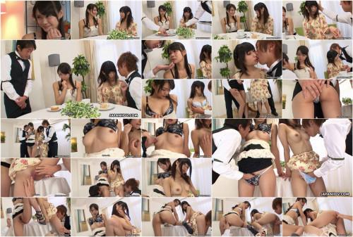 Cheating akubi yumemi and runa kobayashi screwed by butlers