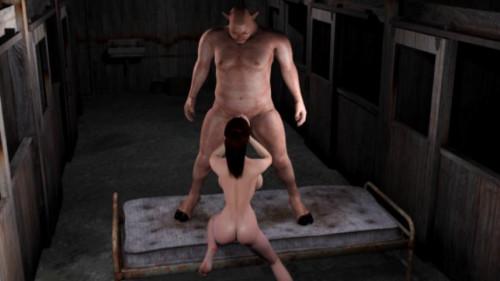 Sex miserably heroine of Red Girl vs. Monster pig man justice [2014]