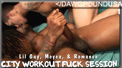 DPUSA - City Workout Fuck Session - Romance, Moyea and Lil Guy
