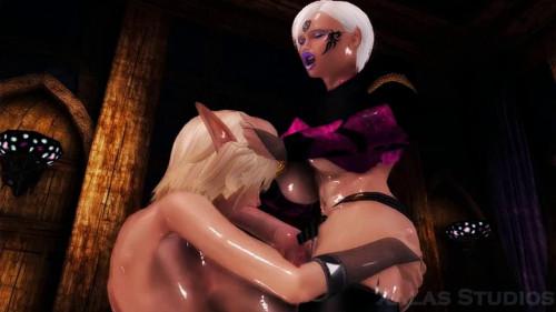 A Futanari Fantasy Sexual Unity of Two [2014,animation,cock,busty]