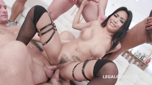 Double Gangbang with Polly Pons Balls Deep Anal HD
