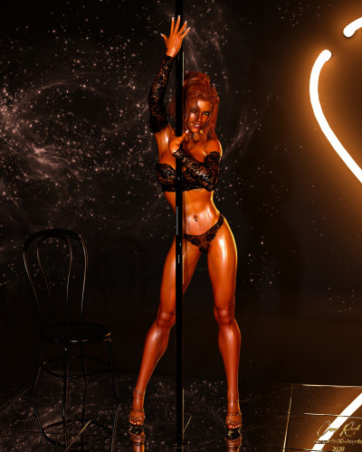 Casey in Pooldance [milf,striptease,3D Porn Comic]