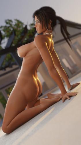 Lara Croft poster [parody,3D Porn Comic,big tits]