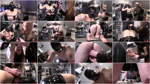 Bondage, domination and torture for sexy bitch in latex part 2