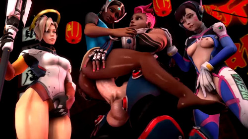 Best Animated Porn Compilation -Overwatch Ebony- Edition [2018,Deepthroat,Wife,MILF]