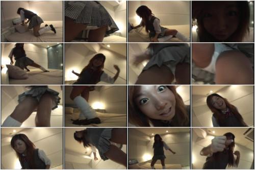Erotic dance solo by young asian girl in white panties - Joshikosei Aikouka