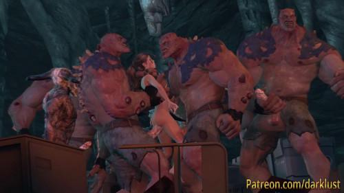 Gangbang adventure for hot Lara Croft [2020,Face Fucking,Double Penetration,Animation]