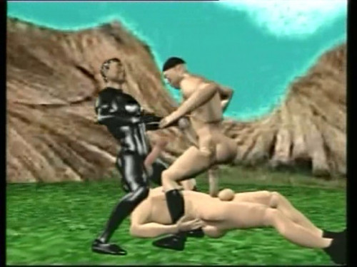 Trick Fick [2009,Threesomes,Leather,3D Animation]