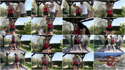 Outdoor Tit and Orgasm Challenge for Bettine
