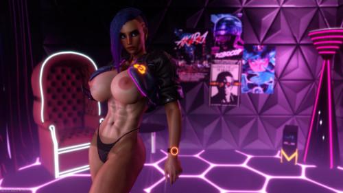 Shassai 3DX Art [piercing,muscle,anal]