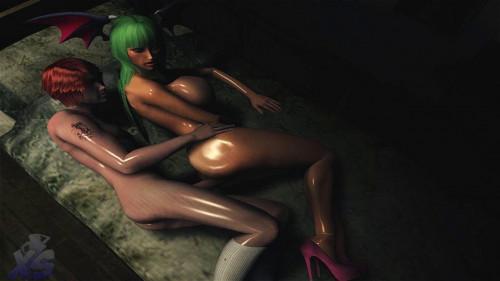 Night With A Succubus [2015,3DCG,Footjob,Big Tits]