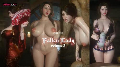Fallen Lady 3 [Creampie,3DCG,Double Penetration]