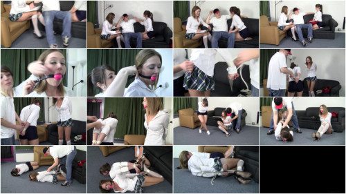 Star Nine & Elizabeth Andrews - We wanted information, that guy wanted to wrist and ankle bondage you