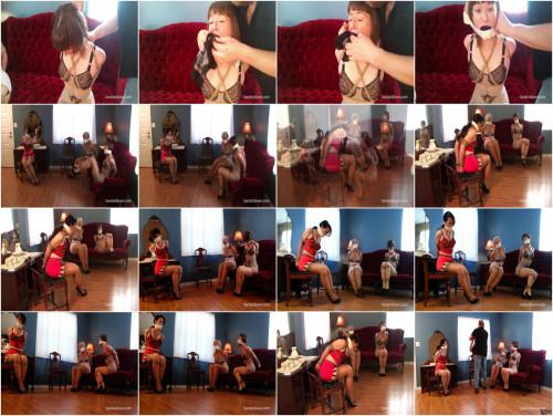 Model Call Hi-jinx! Vintage Vixens Girdle Bound & Gagged On Screen Part 3