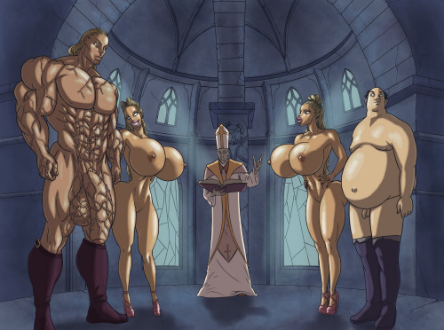 Mnogobatko Commission Art [big penis,huge breasts,interracial]