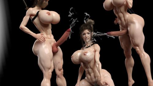 Katie 3DX [cumshot,3D Porn Comic ,t-girl]