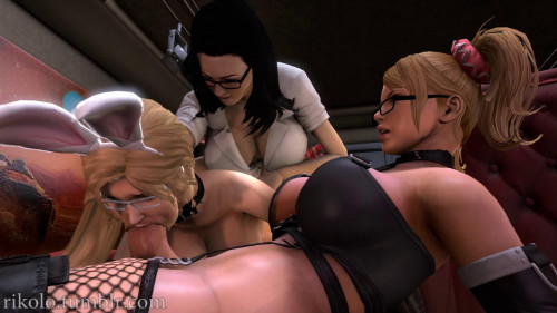 Orgy in the library [2015,3d,cum on face,anal sex]
