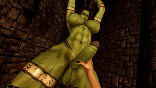 Tied Orc [2021,3D,All sex]