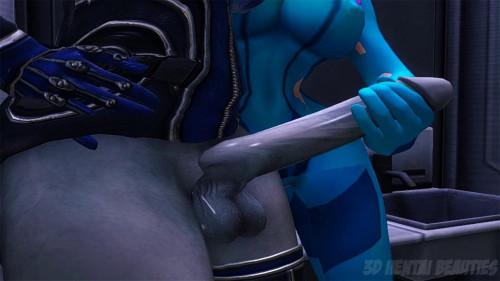 Cocktroid [2015,3DCG,Footjob,Dark Elf.]