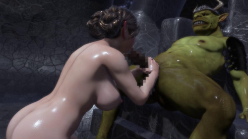 Noble Elf Girl Turned Into the Goblin Chief's Sex Slave