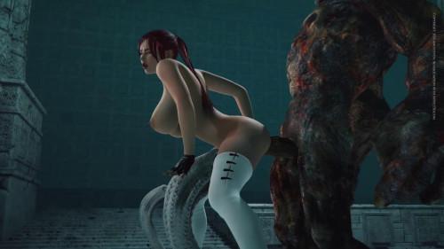 Gigant Monster Dick For Beauty Babe [2016,Animation,Monster,3DCG]