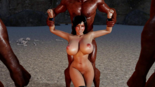 Noble Elven Knightess [2017,Cumshot,Anal,Threesome]