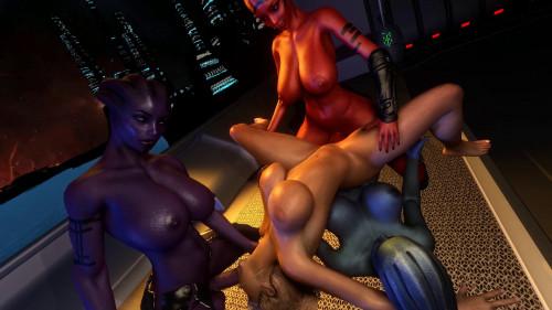 Asari Threesome