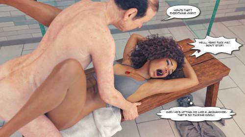 The F Gym [3D Porn Comic,lesbian,blowjob]