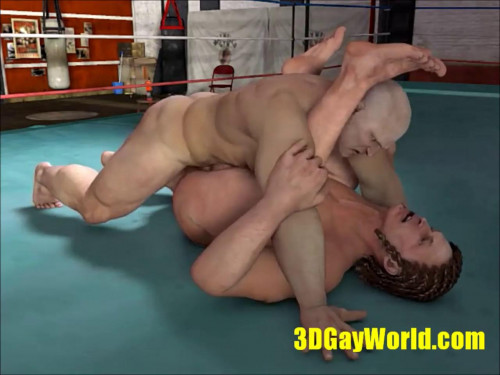 3D GayWorld - Muscle Hunks fuck in Boxing Ring