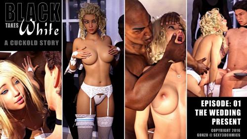 Sexy3DComics - Black Takes White 1-4 [netorare,group sex,voyeurism]
