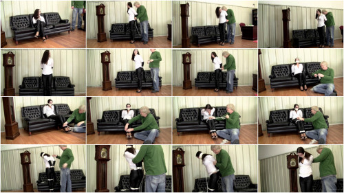 Belle Davis - Secretary In Leather Pants and Tight Ropes
