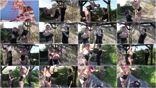 A recent Outdoor Tit Punishment Lesson for Nova Pink