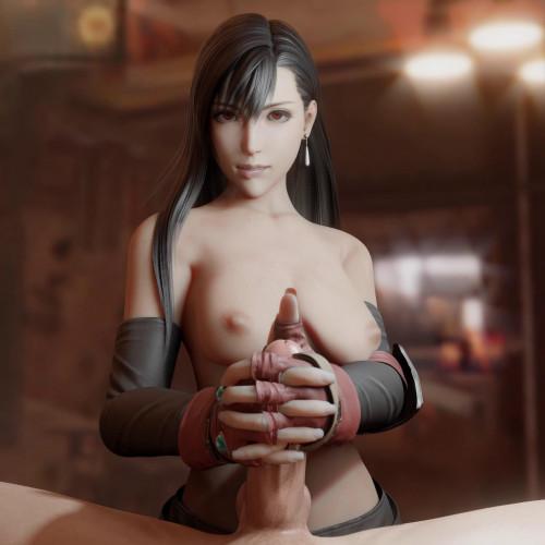 Tifa Handjob Topless [2020,All sex,3D]