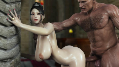 Monster Cock For Beauty Babe [2015,Animation,3DCG,Huge Cock.]
