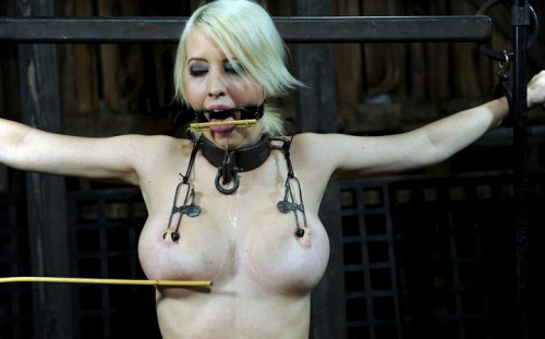 Intense orgasms and brutal breast bondage