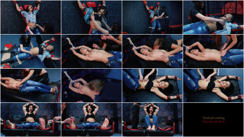 HD Pain play Sex Clips Police tickled to insanity  Aggressive and hawt tickling