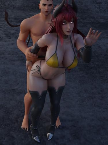 AkiyamaRyo [big tits,anal,3D Porn Comic]