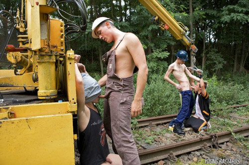 YoungB – Fucked Hard By Track Workers – Dean Burke, Greg Centuri
