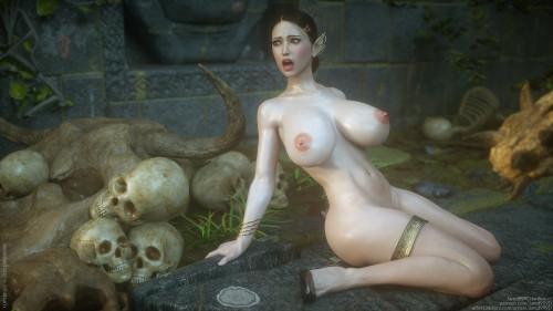 Elf Slave 7 - Double Trouble [Ahegao,Big Breasts,Creampie]