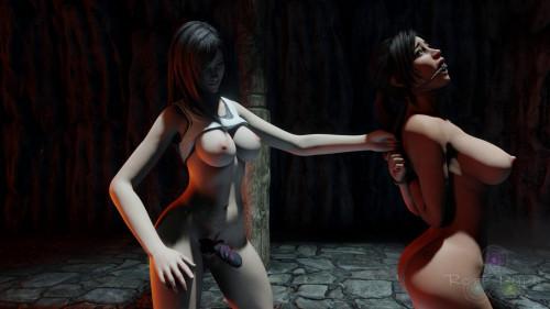 Lara's Capture [2021,Lara Croft,Lesbians,Strapon]