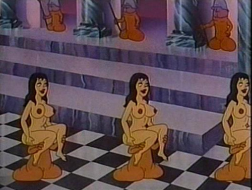 Sweet eroticism in the cartoons