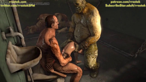 lara croft brutally fucked by ogres in prison