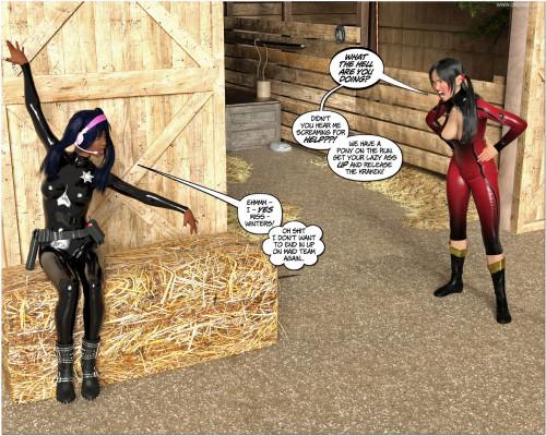 DBComix - Lunagirl for Sale 2 - Ponygirl [bdsm,superheroine,3D Porn Comic]