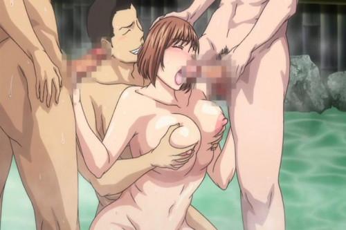 Tsuma Ga Onsen De Circle Nakama No Nikubenki Ni Natta No Desu Ga Ep. 1 [Oral sex,Big tits]