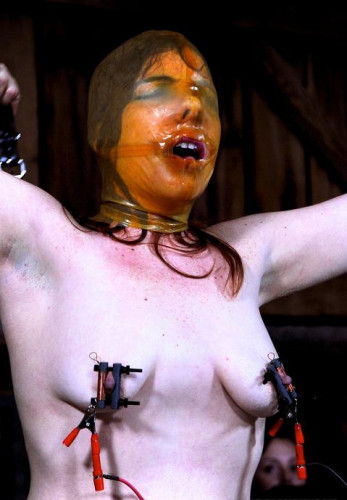 Her nipples are not just clamped, there is electricity running through them
