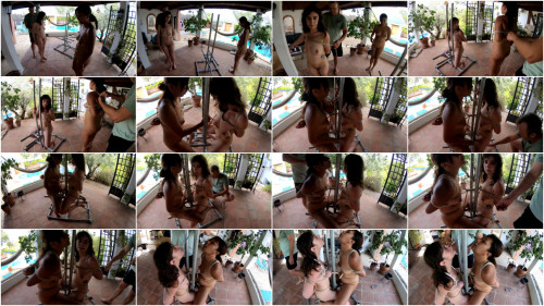2 Girls on the metal Chair - HD 720p