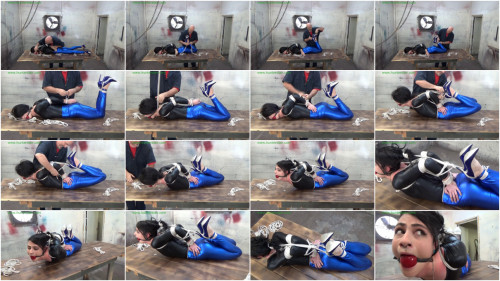 HunterSlair - Lydia Black - Shiny girl chicken wing hogtied