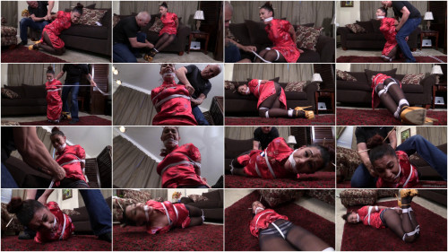 Latin babe massage therapist crotch roped, hogtied and gagged