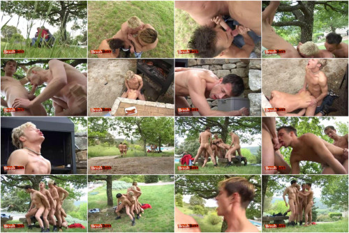 Five Gay Guys And An Outdoor Orgy